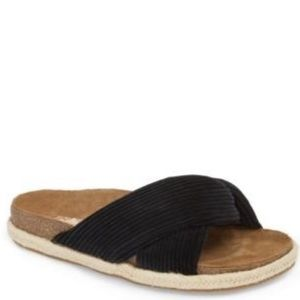 Band of gypsies move over sandals in black. 9